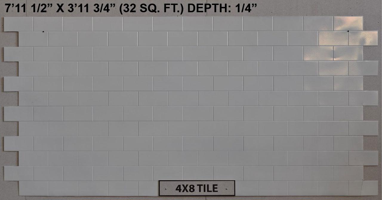 Vacuform 4x8 Tile Skin by Global Entertainment Industries, Burbank, CA