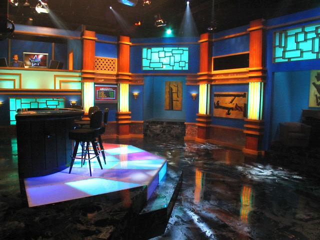 Celebrity Blackjack; set design by Global Entertainment Industries in Burbank, CA