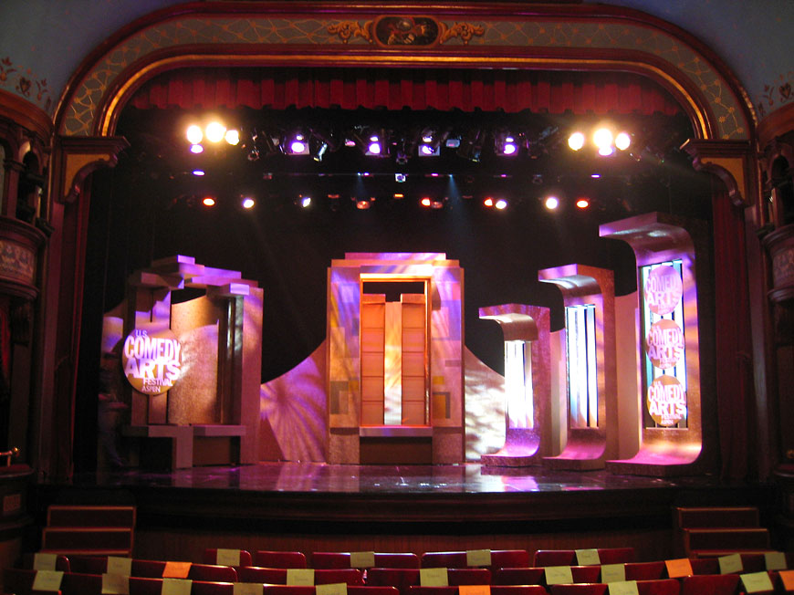 Comedy Arts Festival; set design by Global Entertainment Industries in Burbank, CA