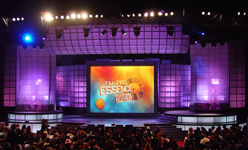 Essence Awards; set design by Global Entertainment Industries in Burbank, CA
