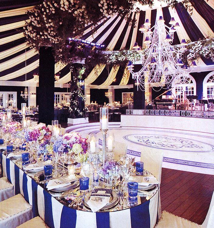 Annie Lynch Wedding; set design by Global Entertainment Industries in Burbank, CA