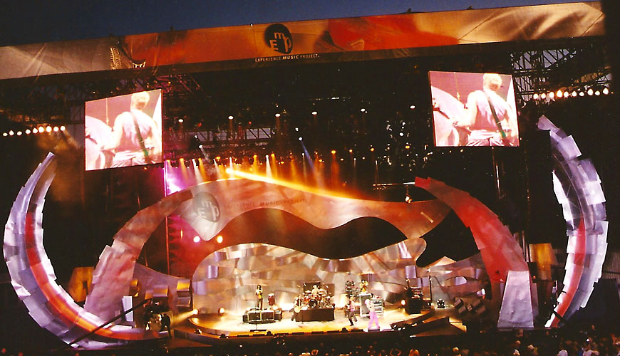 Experience Music Project Dedication Ceremony; set design by Global Entertainment Industries in Burbank, CA