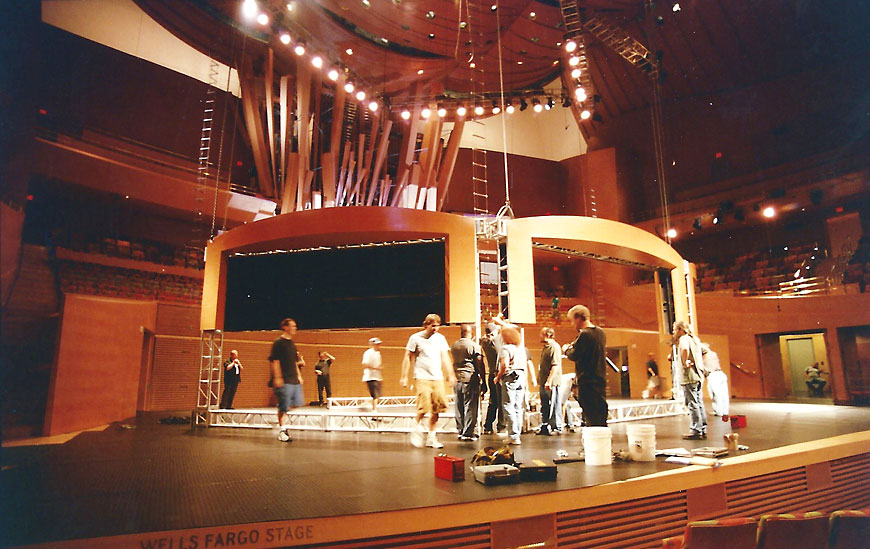 Final Fantasy; set design by Global Entertainment Industries in Burbank, CA