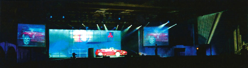 Mitsubishi Press Reveal; set design by Global Entertainment Industries in Burbank, CA