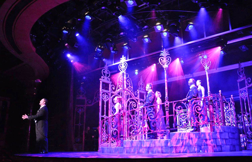 Holland America Line®; set design by Global Entertainment Industries in Burbank, CA