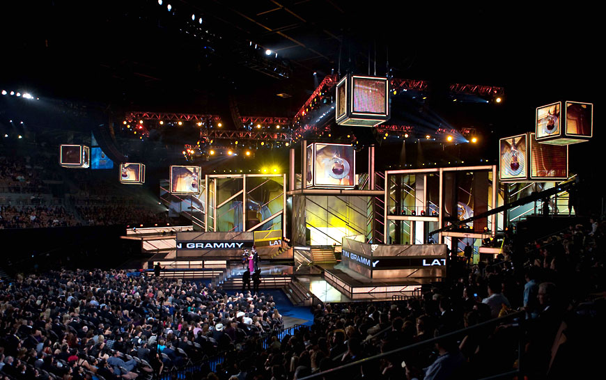 Latin Grammy 2009; set design by Global Entertainment Industries in Burbank, CA