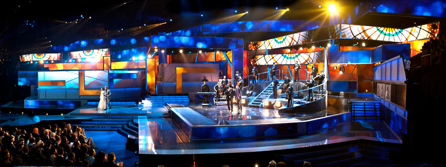 Latin Grammy; set design by Global Entertainment Industries in Burbank, CA