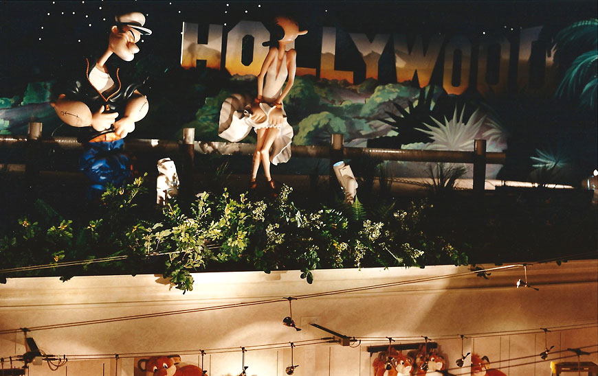 MGM Grand Merchandising; retail theming by Global Entertainment Industries in Burbank, CA