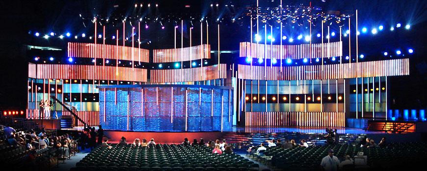 Premio Lo Nuestro 2009; set design by Global Entertainment Industries in Burbank, CA