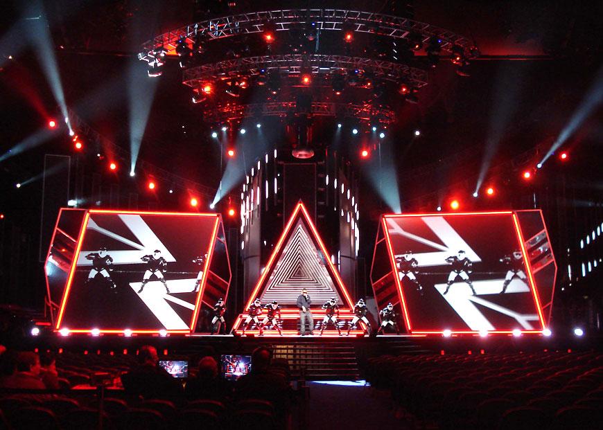 Premio Lo Nuestro 2010; set design by Global Entertainment Industries in Burbank, CA