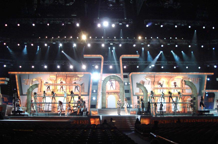 Premio Lo Nuestro 2011; set design by Global Entertainment Industries in Burbank, CA