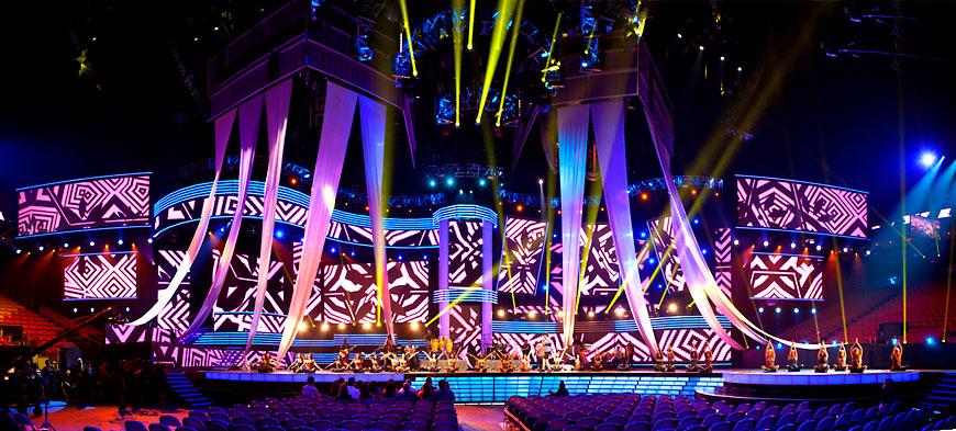 Premio Lo Nuestro 2013; set design by Global Entertainment Industries in Burbank, CA