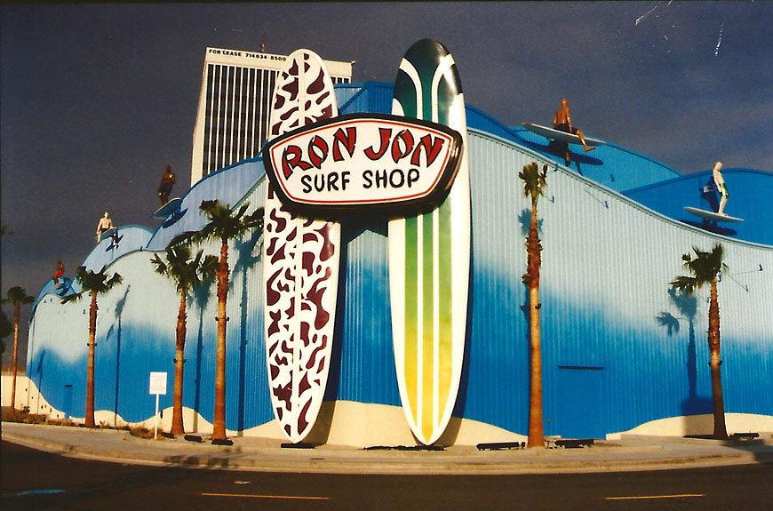 Ron Jon Surf Shop; retail theming by Global Entertainment Industries in Burbank, CA