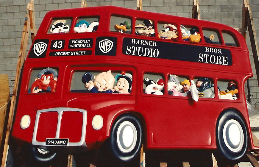Warner Bros Studio Store; retail theming by Global Entertainment Industries in Burbank, CA