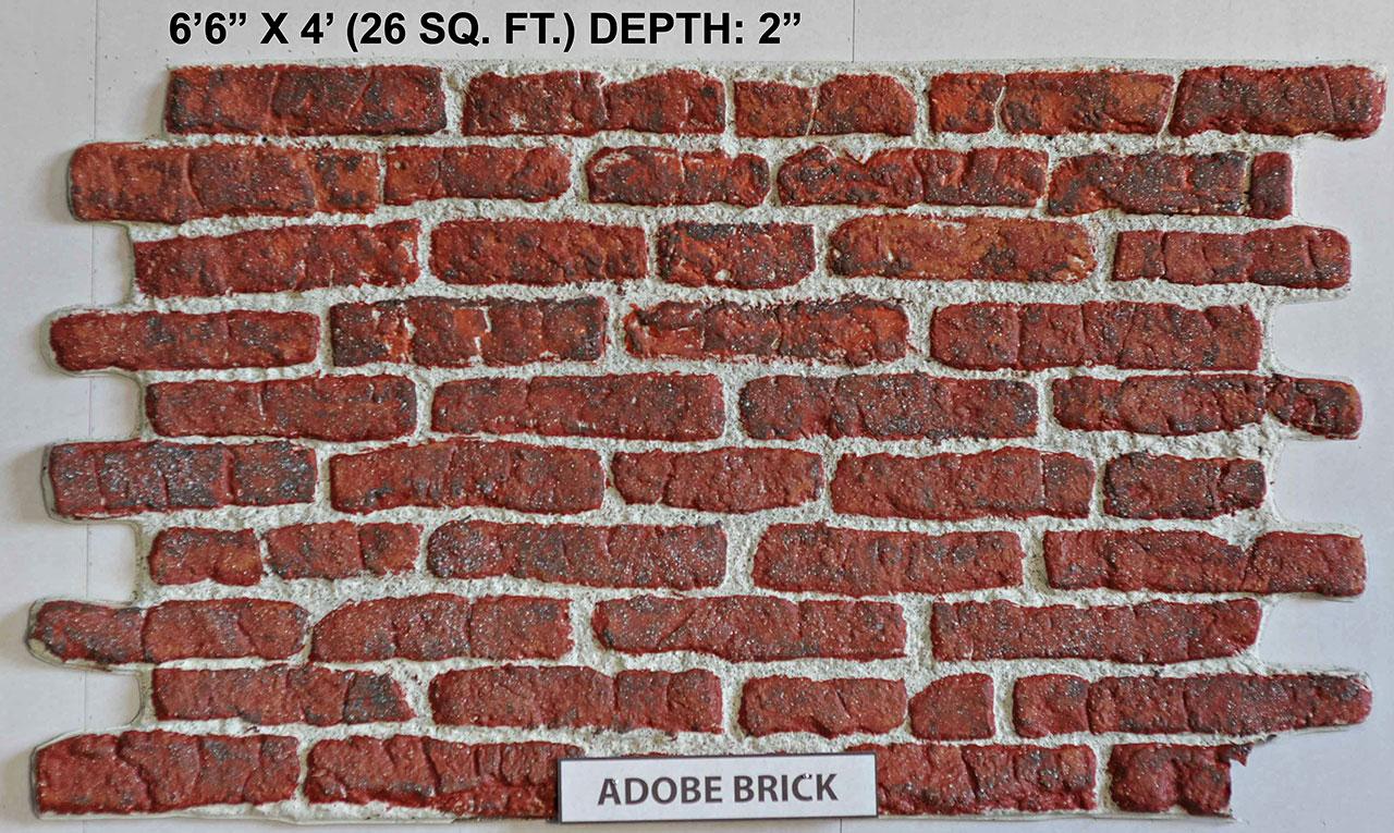 Vacuform Adobe Brick Skin by Global Entertainment Industries, Burbank, CA