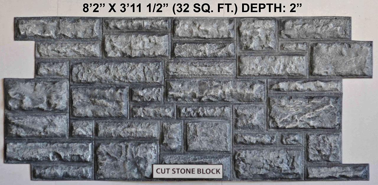 Vacuform Cut Stone Block Skin by Global Entertainment Industries, Burbank, CA