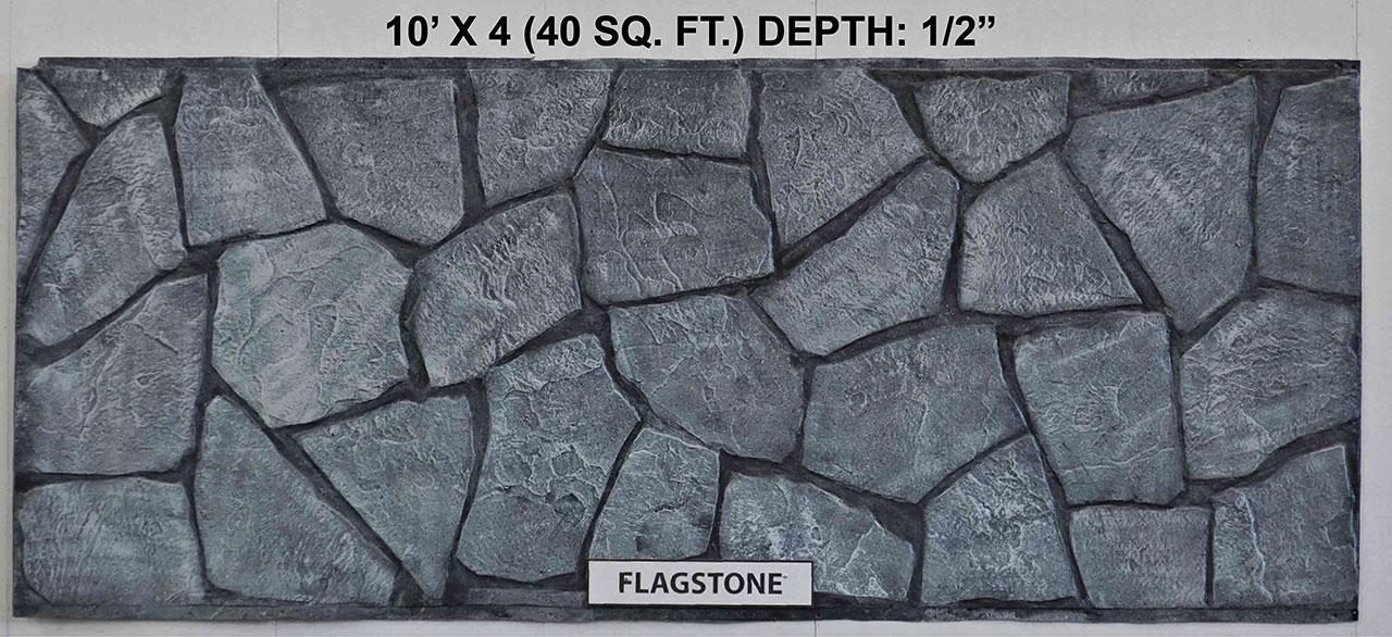 Vacuform Flagstone Skin by Global Entertainment Industries, Burbank, CA