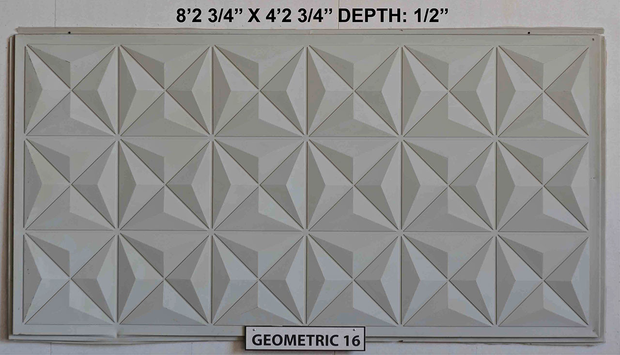Vacuform Geometric Skin by Global Entertainment Industries, Burbank, CA