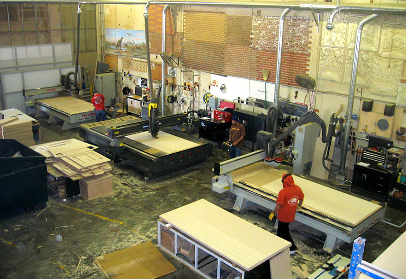 CNC Router Machine at Global Entertainment Industries, Burbank, CA.