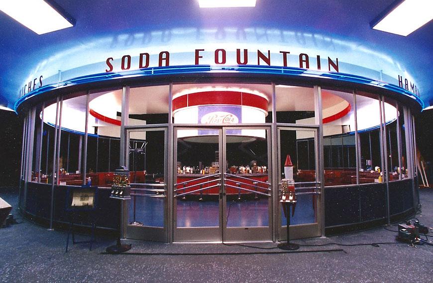Pepsi commercial; set design by Global Entertainment Industries, Burbank, CA