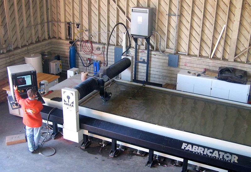 Waterjet Machine at Global Entertainment Industries, Burbank, CA.