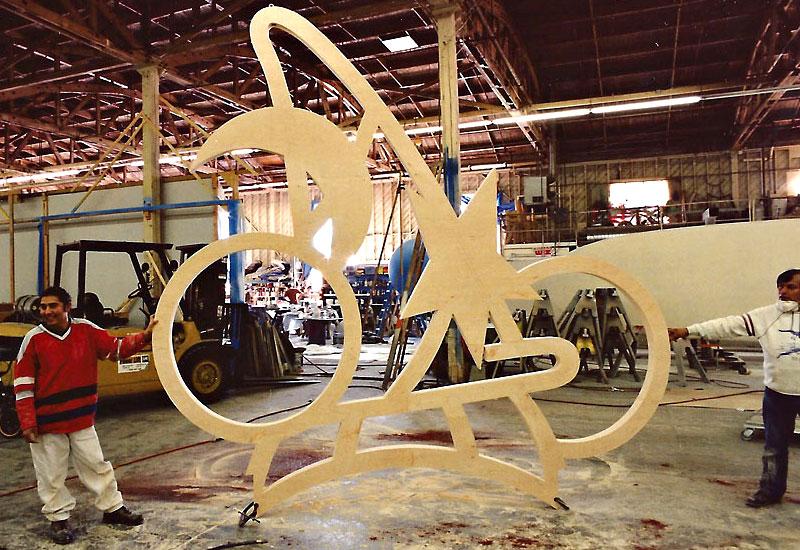 Wood Shop sample by Global Entertainment Industries, Burbank, CA.