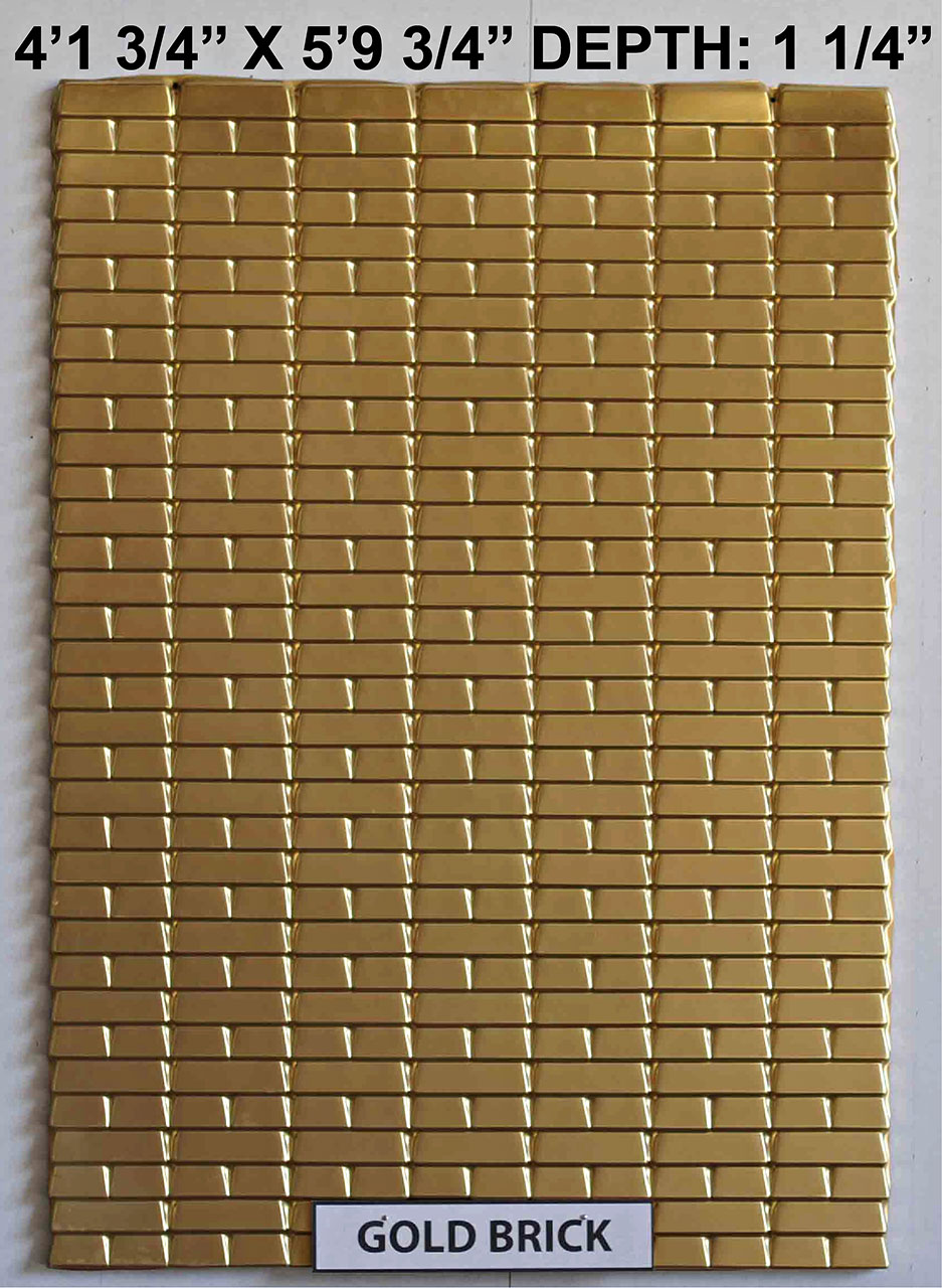 Vacuform Gold Brick Skin by Global Entertainment Industries, Burbank, CA