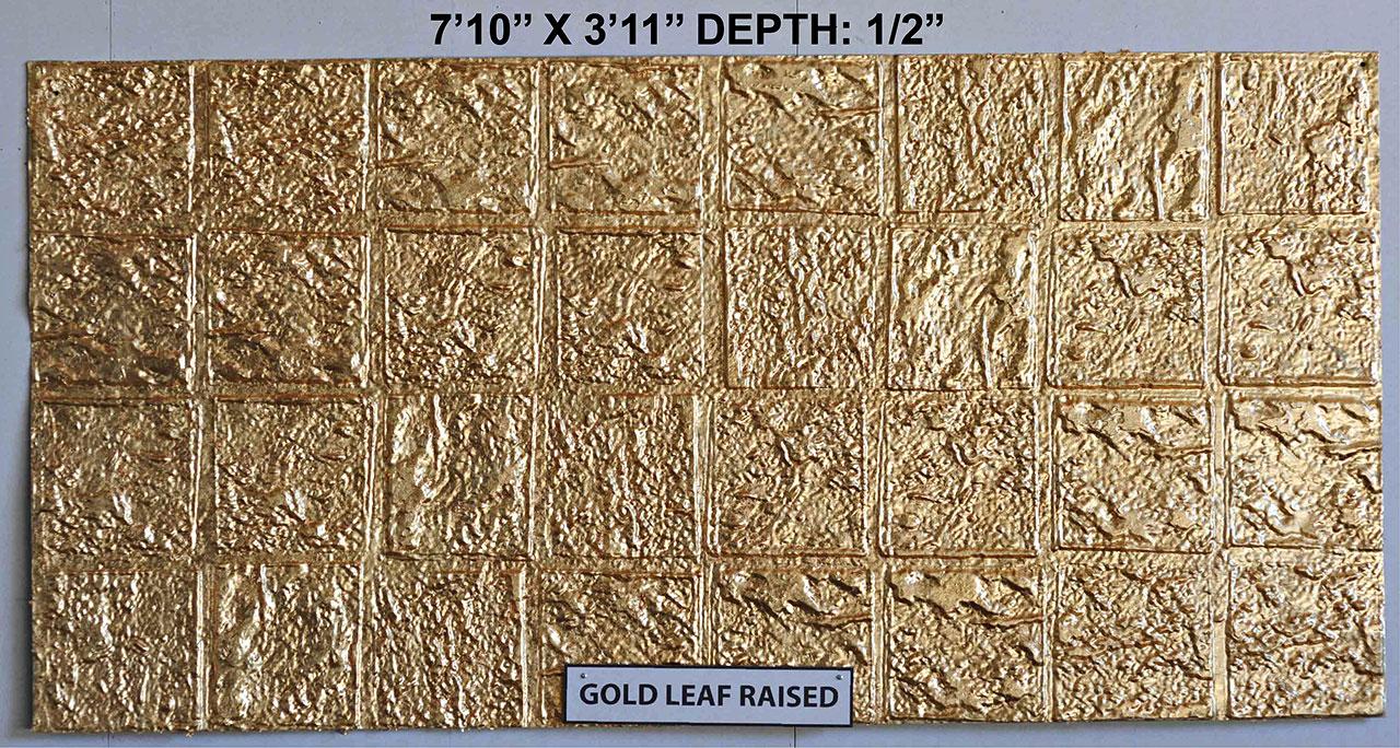 Vacuform Gold Leaf Raised Skin by Global Entertainment Industries, Burbank, CA
