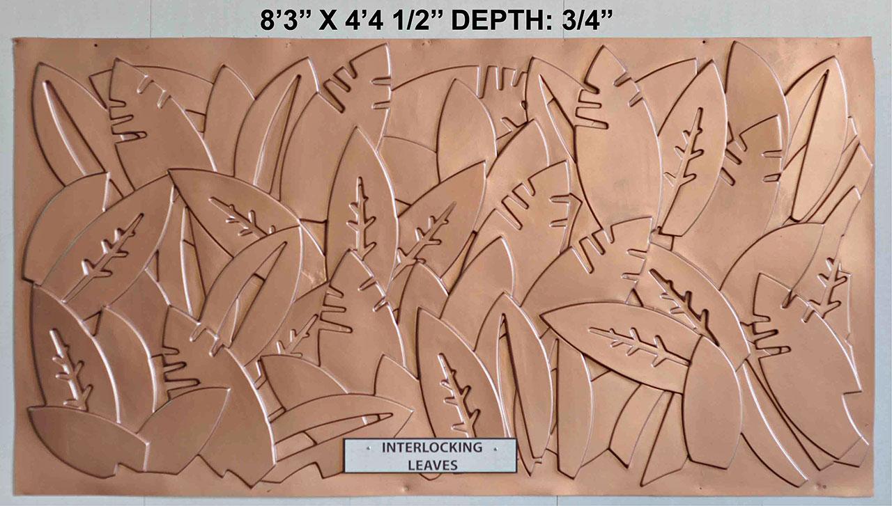 Vacuform Interlocking Leaves Skin by Global Entertainment Industries, Burbank, CA