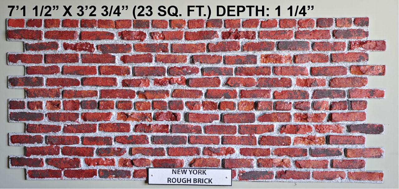 Vacuform New York Rough Brick Skin by Global Entertainment Industries, Burbank, CA