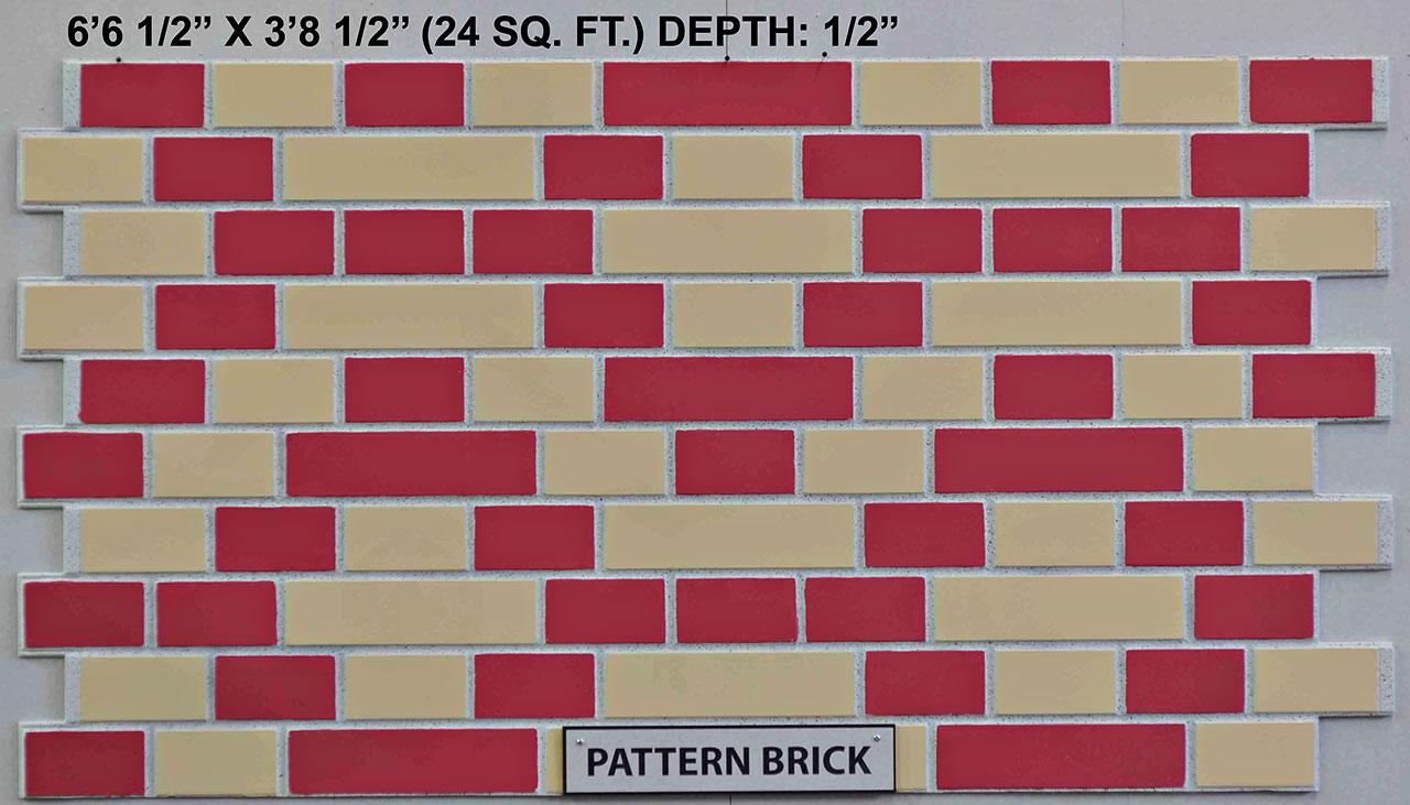 Vacuform Pattern Brick Skin by Global Entertainment Industries, Burbank, CA