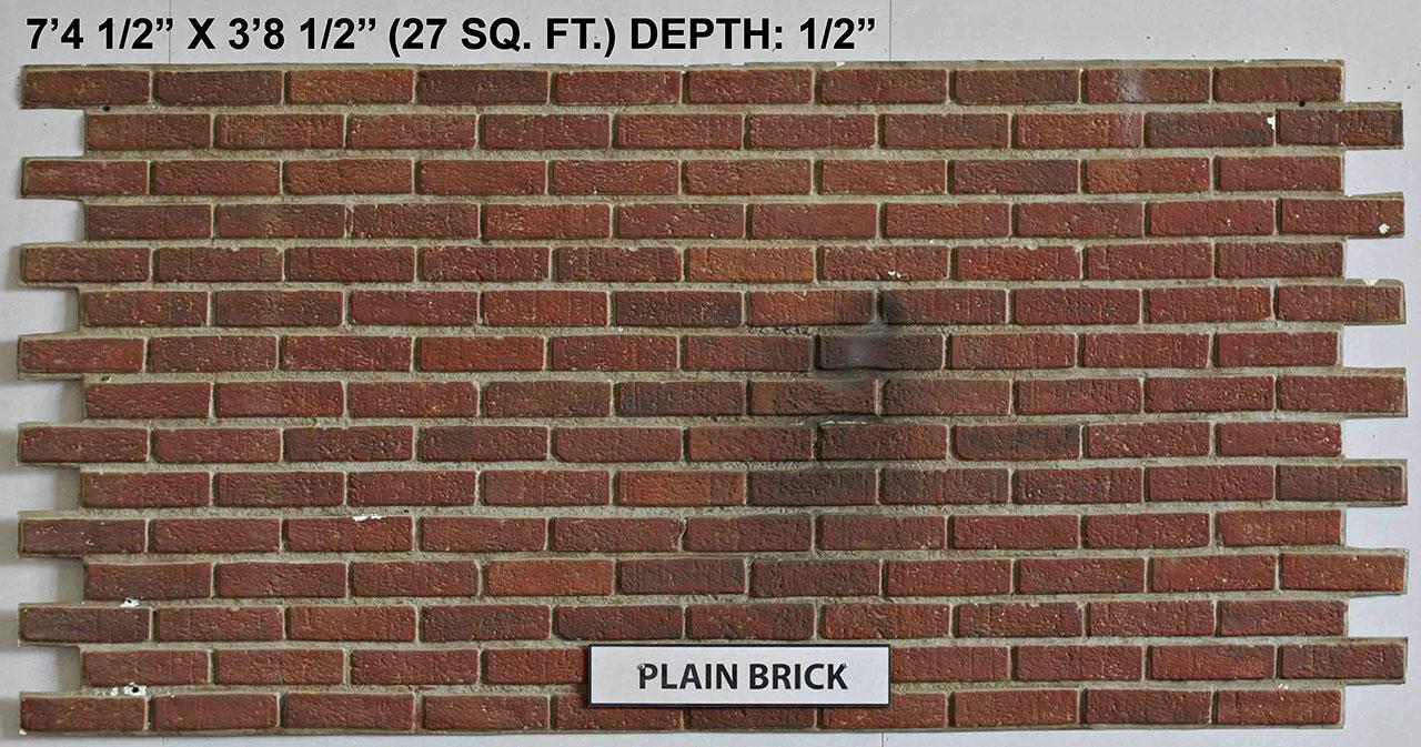 Vacuform Plain Brick Skin by Global Entertainment Industries, Burbank, CA
