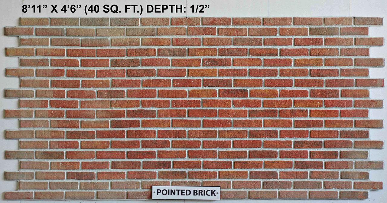 Vacuform Pointed Brick Skin by Global Entertainment Industries, Burbank, CA