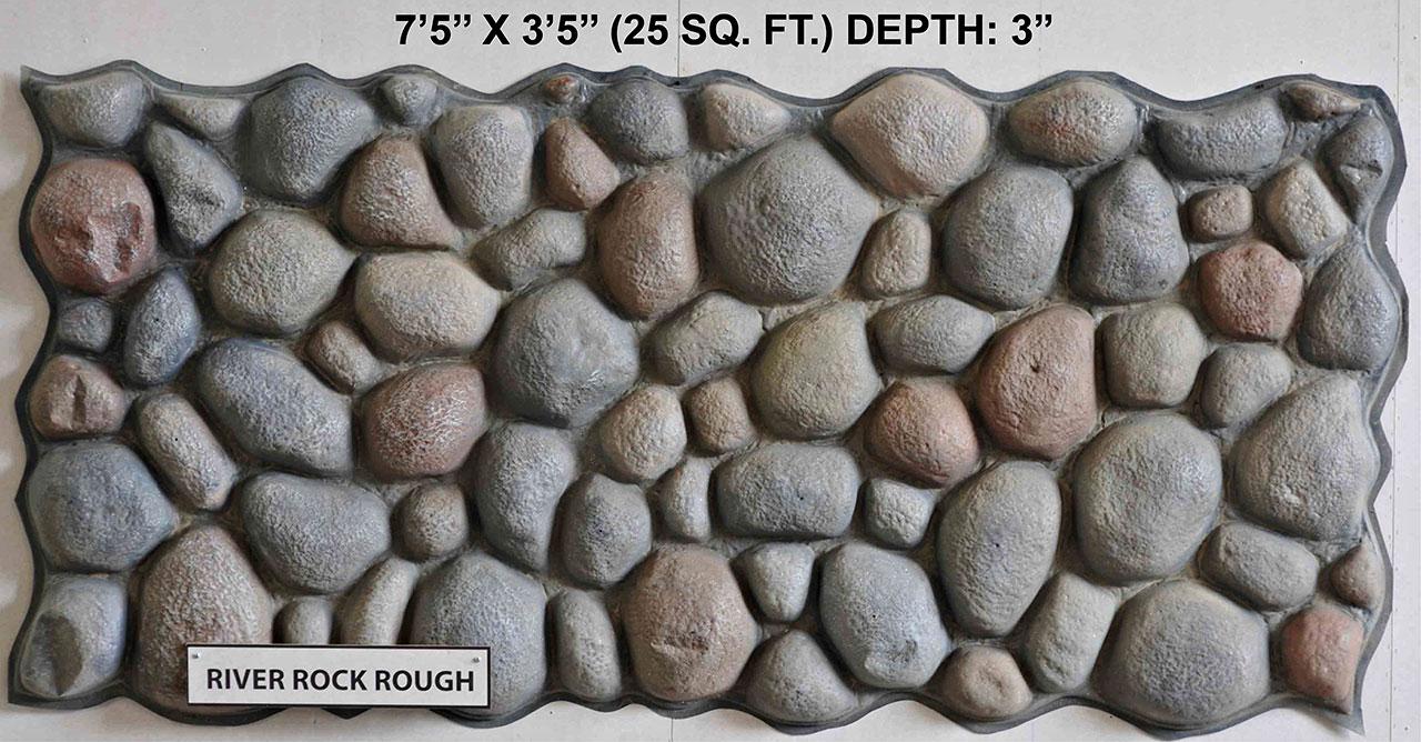 Vacuform River Rock Rough Skin by Global Entertainment Industries, Burbank, CA
