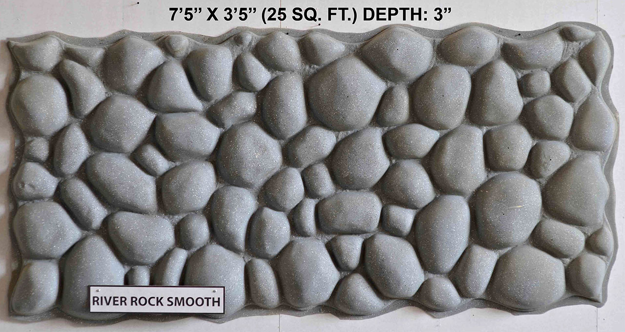 Vacuform River Rock Smooth Skin by Global Entertainment Industries, Burbank, CA