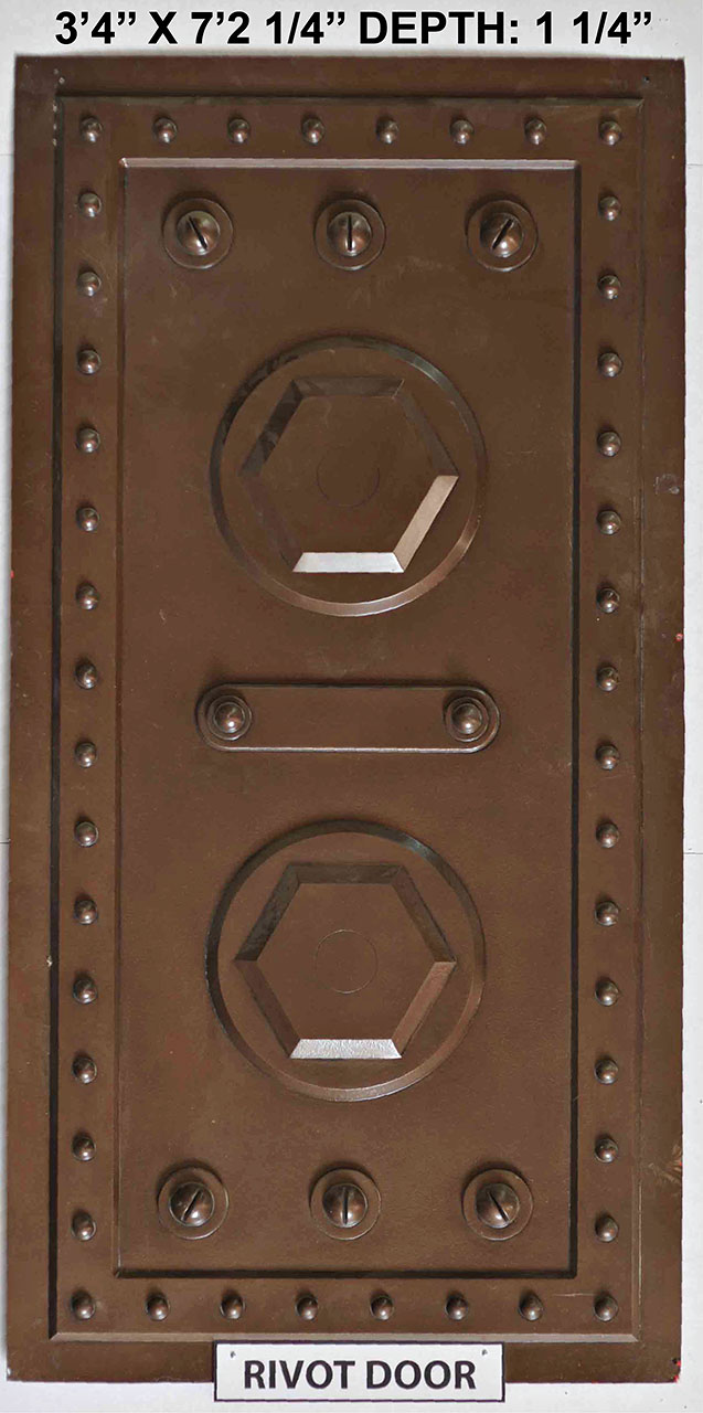Vacuform Rivet Door Skin by Global Entertainment Industries, Burbank, CA