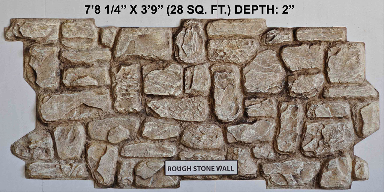 Vacuform Rough Stone Wall Skin by Global Entertainment Industries, Burbank, CA