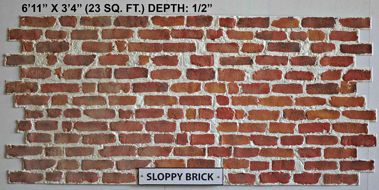 Vacuform Sloppy Brick Skin by Global Entertainment Industries, Burbank, CA