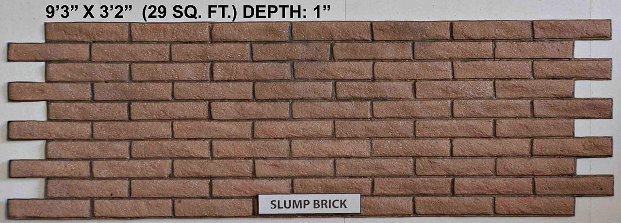 Vacuform Slump Brick Skin by Global Entertainment Industries, Burbank, CA