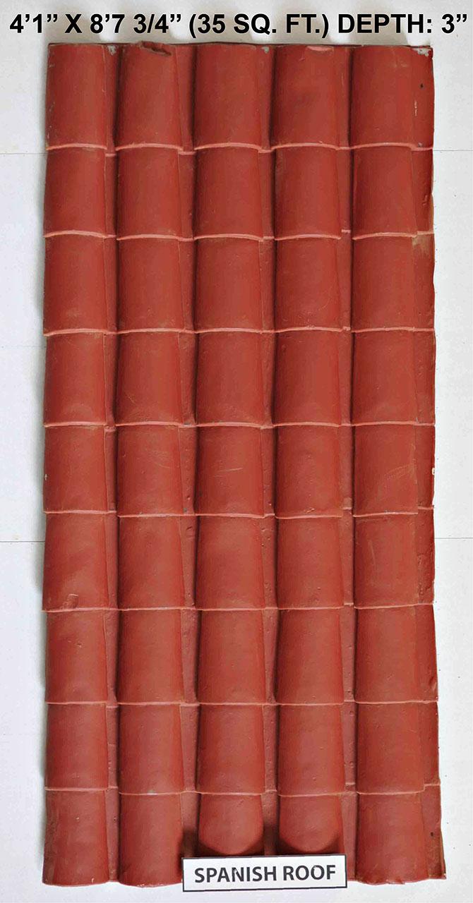 Vacuform Spanish Roof Skin by Global Entertainment Industries, Burbank, CA