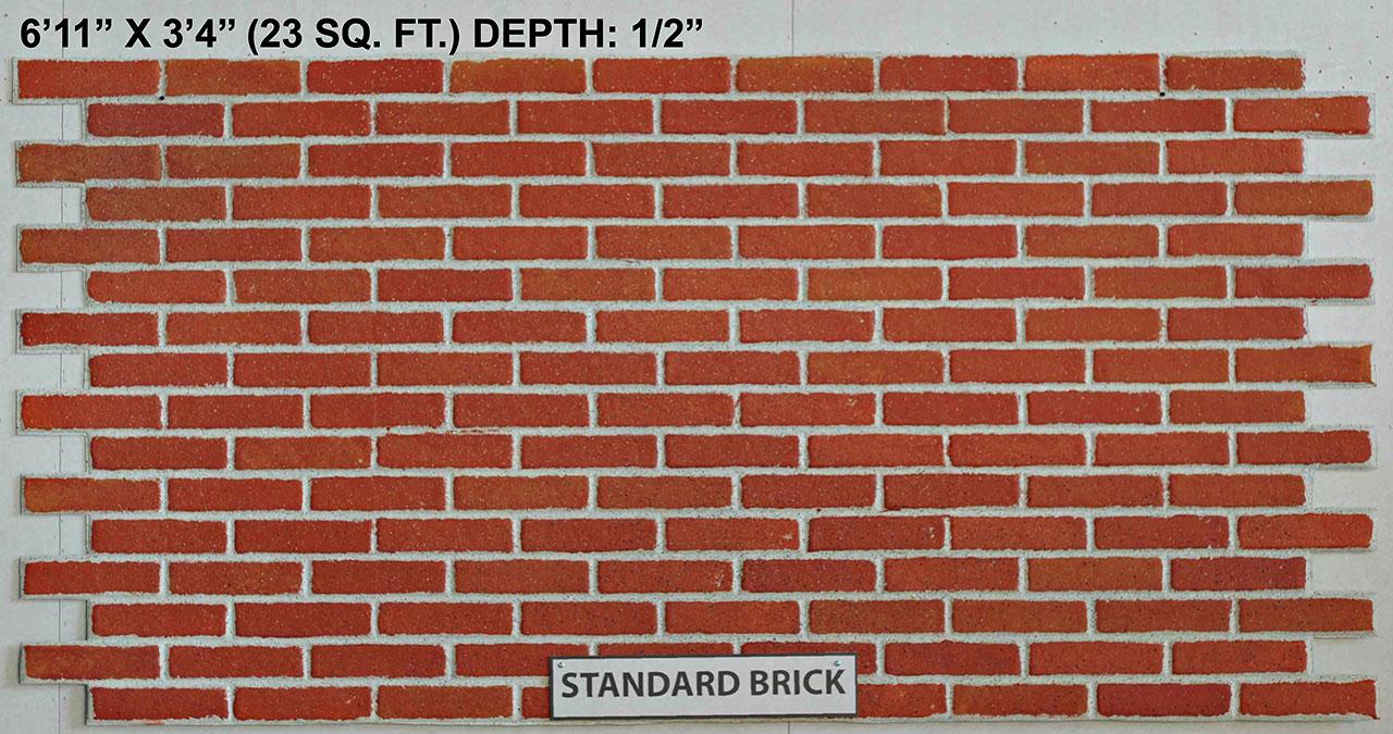 Vacuform Standard Brick Skin by Global Entertainment Industries, Burbank, CA