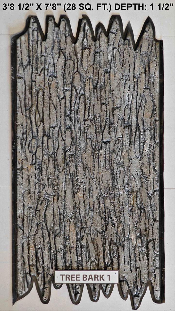 Vacuform Tree Bark Skin by Global Entertainment Industries, Burbank, CA