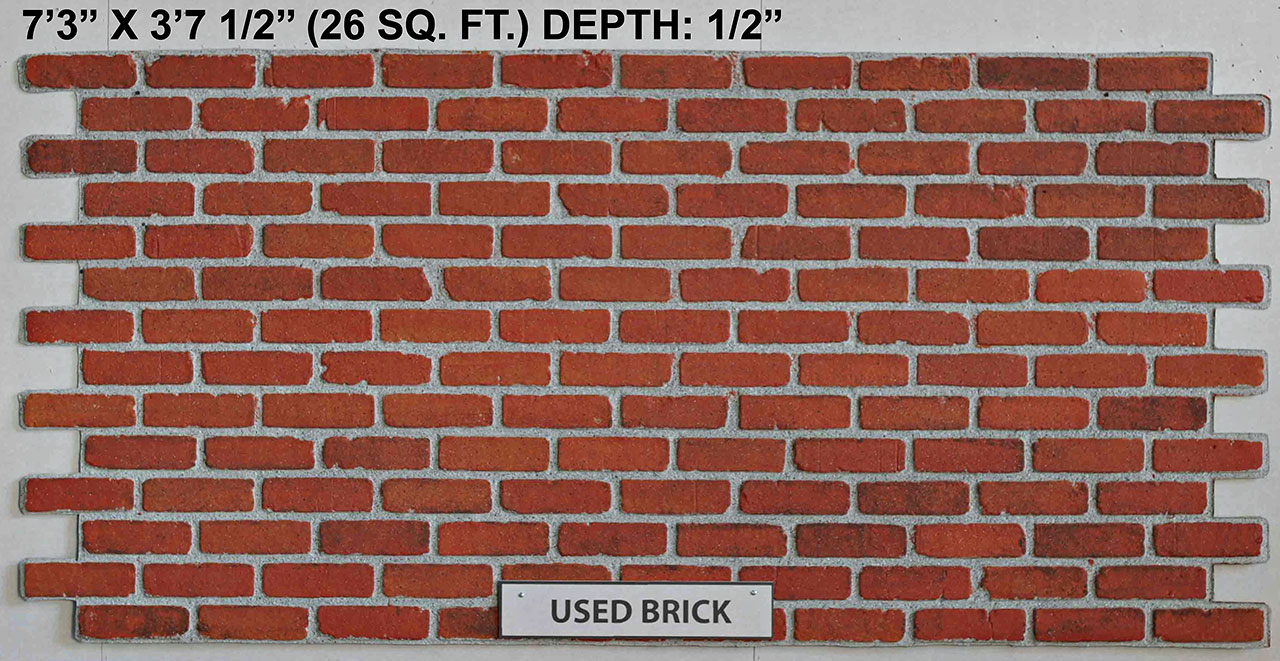 Vacuform Used Brick Skin by Global Entertainment Industries, Burbank, CA