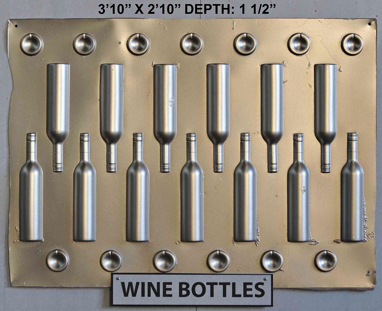 Vacuform Wine Bottles Skin by Global Entertainment Industries, Burbank, CA